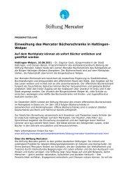 Presseinfo Juni 11: 4. Mercator Bücherschrank in ... - Stiftung Mercator