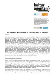 Infosheet Thüringen - Stiftung Mercator