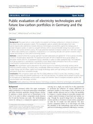 Public evaluation of electricity technologies and ... - Stiftung Mercator