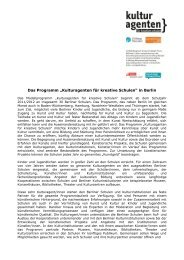 Kulturagenten für kreative Schulen - Stiftung Mercator