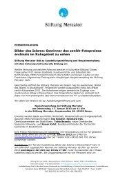 Pressetermin Januar 13 - Stiftung Mercator