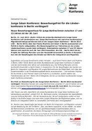 JIK - Bewerbungsfrist verlängert! - Junge Islam Konferenz