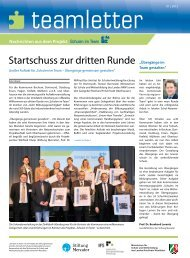 teamletter 01 | 2012 - Stiftung Mercator