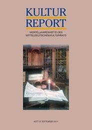 KULTUR REPORT - Stiftung Mitteldeutscher Kulturrat