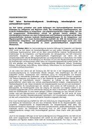 Fünf Jahre Sachverständigenrat - Stiftung Mercator