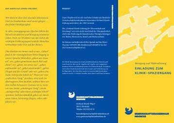 Flyer Klinikspaziergang - Stiftung Pflege