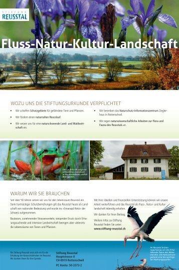 Flyer der Stiftung Reusstal