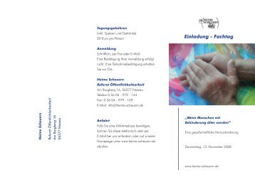 Einladung - Fachtag - Stiftung Scheuern
