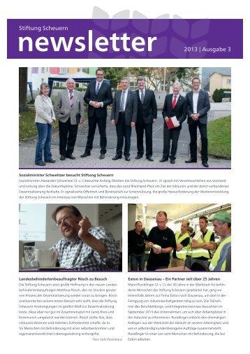 Newsletter Oktober 2013 - Stiftung Scheuern