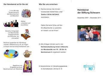 Heimbeirat der Stiftung Scheuern