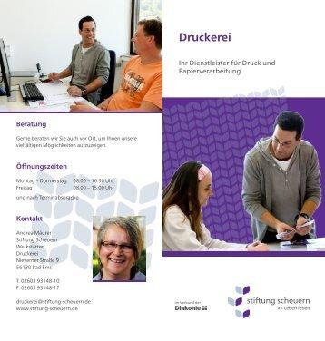 Druckerei - Stiftung Scheuern