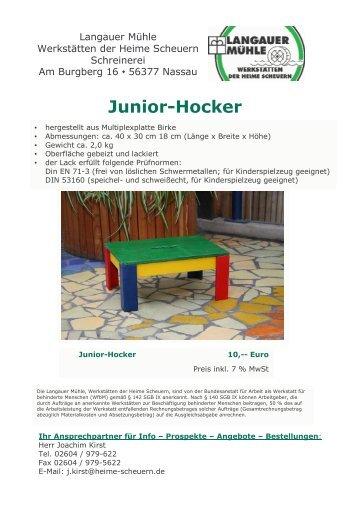 Junior-Hocker - Stiftung Scheuern