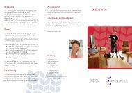 Flyer Wohnschule - Stiftung Scheuern