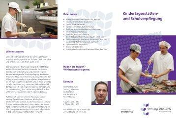 Kindertagesstätten- und Schulverpflegung - Stiftung Scheuern