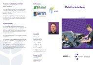Metallverarbeitung - Stiftung Scheuern