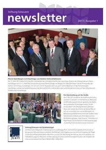 2013 | Ausgabe 1 Stiftung Scheuern