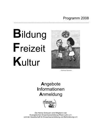 Bildung, Freizeit und Kultur - Stiftung Scheuern