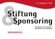 MEDIADATEN - Stiftung & Sponsoring