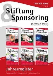 2009 - Stiftung & Sponsoring