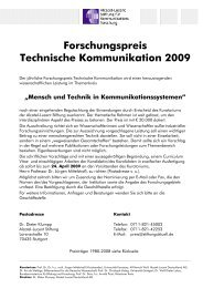 Forschungspreis 2009 - Alcatel-Lucent Stiftung für ...