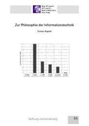 Zur Philosophie der Informationstechnik - Alcatel-Lucent Stiftung für ...