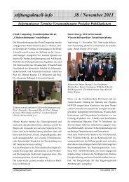 Stiftungaktuell Info 38 Nov.2011 - Alcatel-Lucent Stiftung für ...