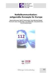 Notfallkommunikation: zeitgemäße Konzepte für Europa