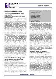 Mobilität und Kontext im Spannungsfeld von Technik und Recht