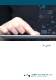 130718_ConLife Program - Alcatel-Lucent Stiftung für ...