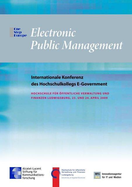 Electronic Public Management - Alcatel-Lucent Stiftung für ...
