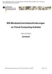 BSI-Mindestsicherheitsanforderungen an Cloud-Computing-Anbieter