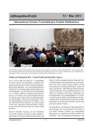 stiftungaktuell-info 51 / Mai 2013 - Alcatel-Lucent Stiftung für ...