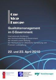 Qualitätsmanagement im E-Government - Alcatel-Lucent Stiftung für ...