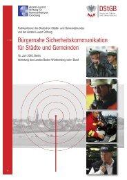 Programm Sicherheitskommunikation 2010 - Alcatel-Lucent Stiftung ...