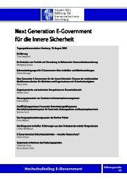 Next Generation E-Government für die Innere Sicherheit
