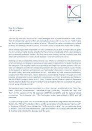 Dear Sir or Madam, Dear Art Lovers, The Stiftung für Kunst und ...