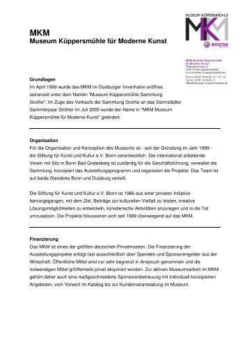 Infotext MKM - Stiftung für Kunst und Kultur eV