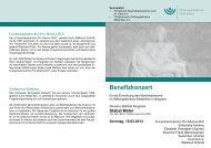 Benefizkonzert - Stiftungsklinikum Mittelrhein Koblenz