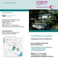 Fortbildungsveranstaltung - Stiftungsklinikum Mittelrhein Koblenz