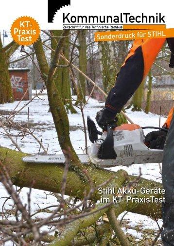 Sonderdruck KommunalTechnik - Stihl