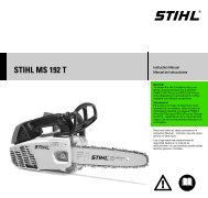 STIHL MS 192 T Instruction Manual Manual de instrucciones