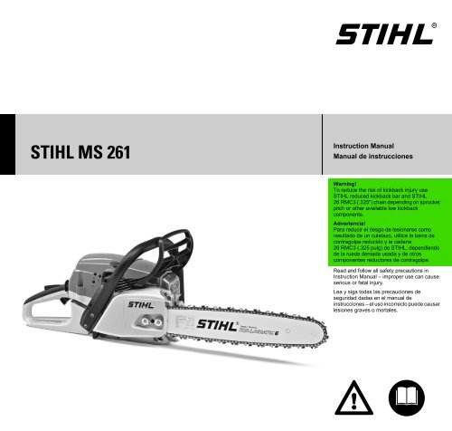 Stihl Instruction Manual Agriculture/farming