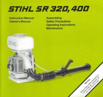 SR 320, 400 - Stihl