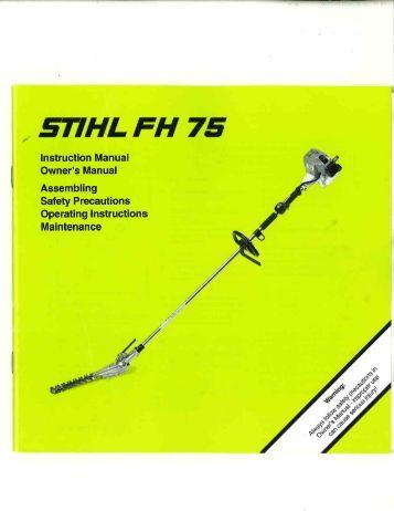 Stihl brush Fs 75 manual