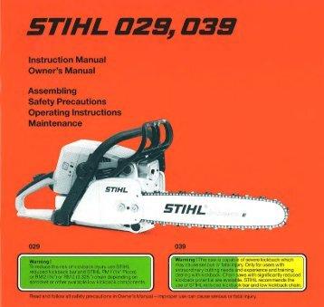029, 039 - Stihl