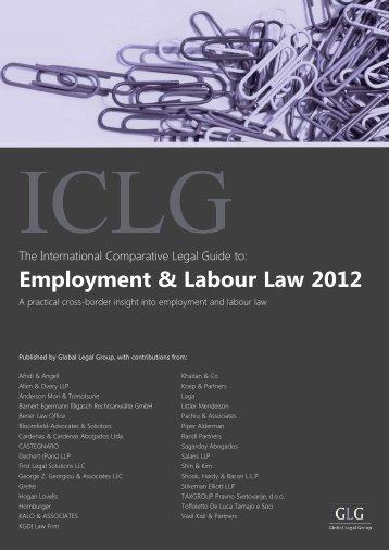 Employment & Labour Law 2012 - Stikeman Elliott