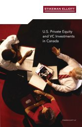 U.S. Private Equity and VC Investments in Canada - Stikeman Elliott