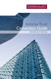 Income Trust Conversion Guide - Stikeman Elliott