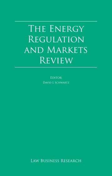 The Energy Regulation and Markets Review - Stikeman Elliott