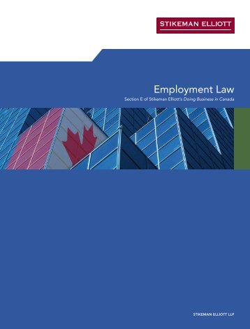 Employment Law - Stikeman Elliott